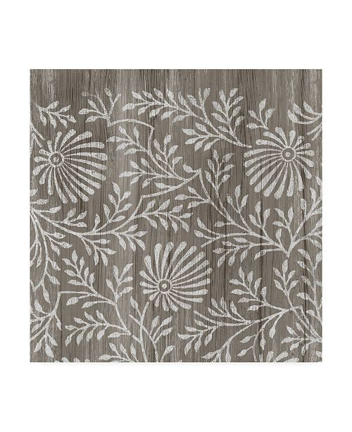 "Trademark Global June Erica Vess Weathered Wood Patterns VII Canvas Art - 15"" x 20"""