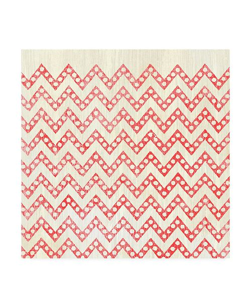 """Trademark Global June Erica Vess Weathered Patterns in Red XII Canvas Art - 20"""" x 25"""""""
