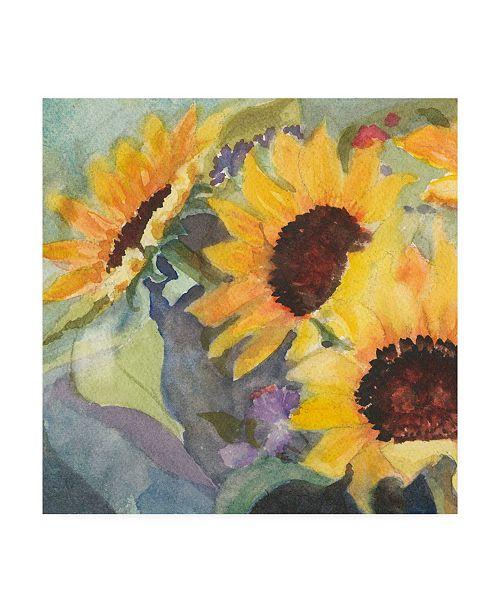 "Trademark Global Sandra Iafrate Sunflowers in Watercolor I Canvas Art - 20"" x 25"""