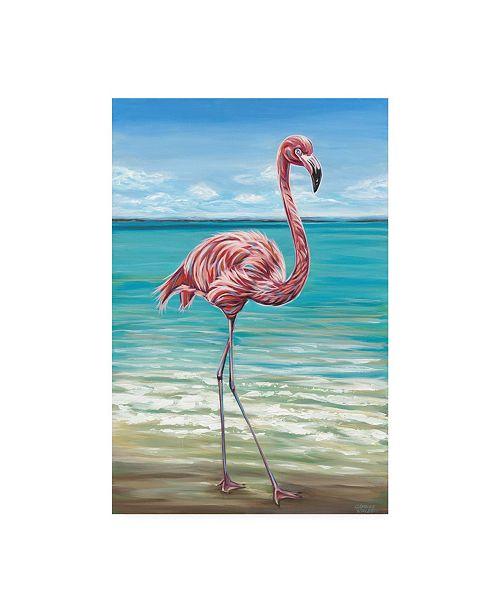 "Trademark Global Carolee Vitaletti Beach Walker Flamingo I Canvas Art - 20"" x 25"""