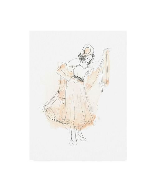 "Trademark Global June Erica Vess Blush and Grey Fashion I Canvas Art - 15"" x 20"""