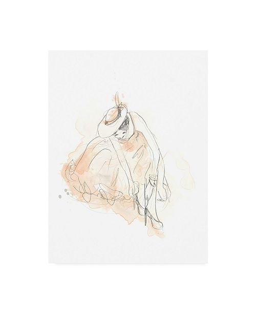 "Trademark Global June Erica Vess Blush and Grey Fashion III Canvas Art - 20"" x 25"""
