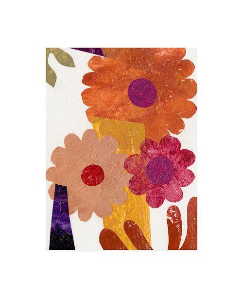 "Trademark Global Regina Moore Fiesta Floral I Canvas Art - 20"" x 25"""