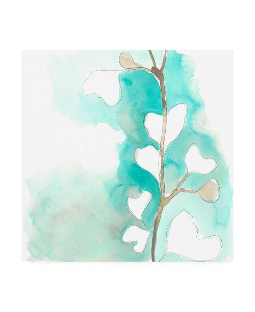 "Trademark Global June Erica Vess Teal and Ochre Ginko III Canvas Art - 15"" x 20"""