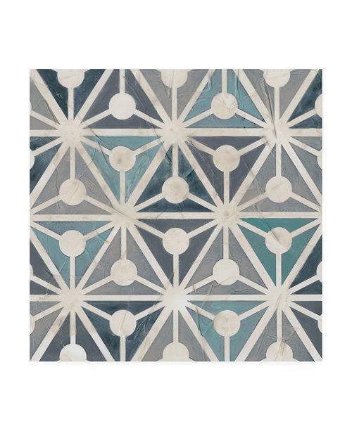 "Trademark Global June Erica Vess Teal Tile Collection IX Canvas Art - 15"" x 20"""