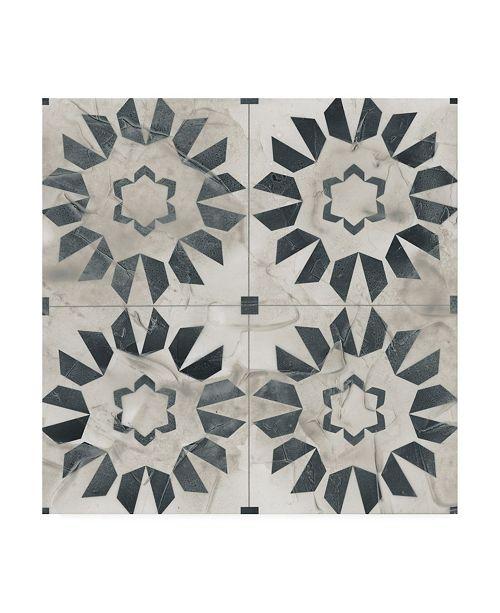 "Trademark Global June Erica Vess Neutral Tile Collection III Canvas Art - 20"" x 25"""