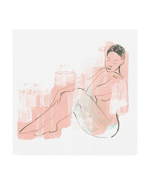 "Trademark Global June Erica Vess Color Block Figure I Canvas Art - 15"" x 20"""