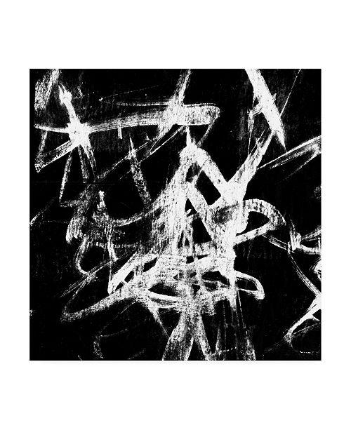 "Trademark Global Jennifer Goldberger Monotype Scribble III Canvas Art - 15"" x 20"""