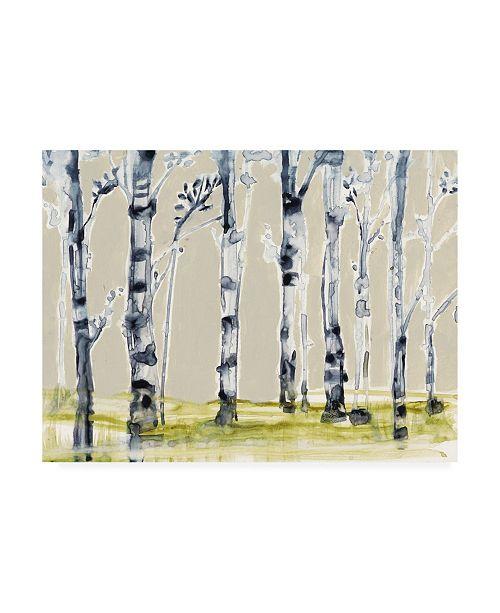 """Trademark Global Jennifer Goldberger Parchment Birch Line I Canvas Art - 15"""" x 20"""""""