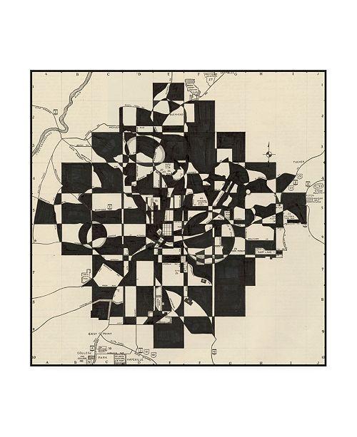 "Trademark Global Nikki Galapon Modern Map of Atlanta Canvas Art - 15"" x 20"""