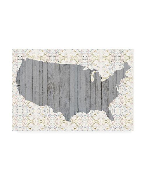 """Trademark Global Jennifer Goldberger Flower Map IV Canvas Art - 20"""" x 25"""""""
