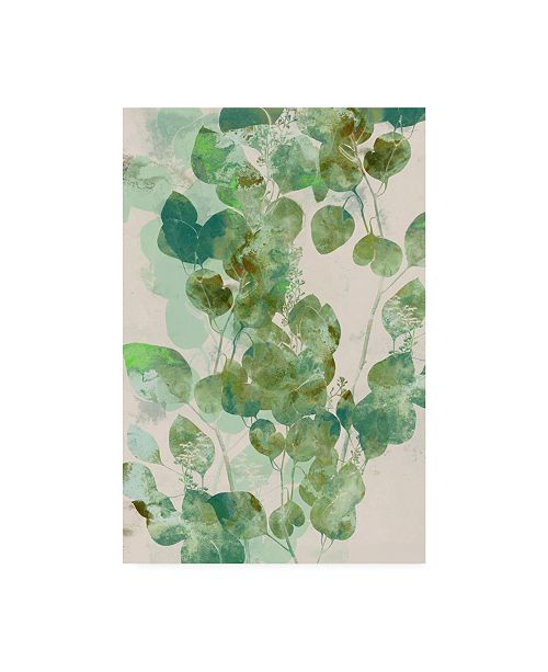 "Trademark Global Jennifer Goldberger Watercolor Eucalyptus I Canvas Art - 37"" x 49"""