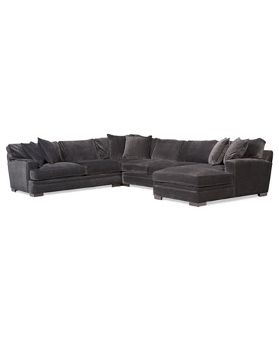 Teddy fabric 4 piece chaise sectional sofa furniture for Teddy fabric 4 piece chaise sectional sofa