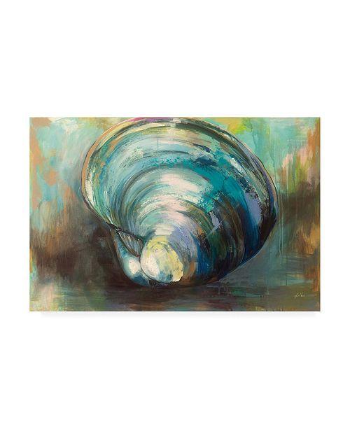 "Trademark Global Jeanette Vertentes Solo Quahog Canvas Art - 27"" x 33.5"""