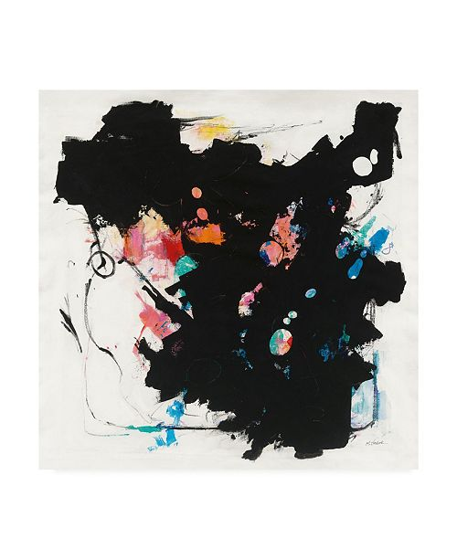 """Trademark Global Mike Schick Abstract Redacted Canvas Art - 36.5"""" x 48"""""""