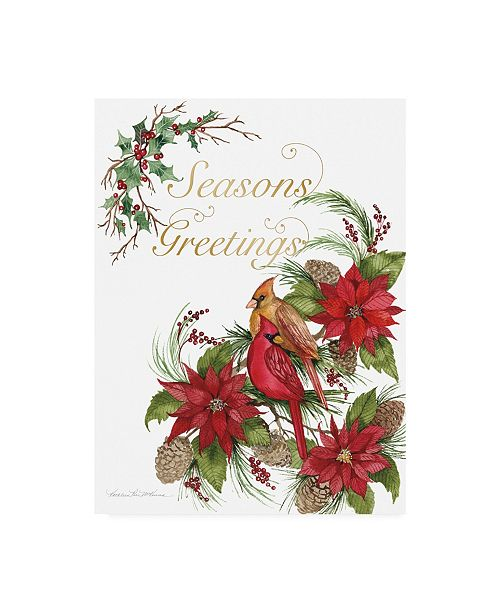 """Trademark Global Kathleen Parr McKenna Holiday Happiness VI Greetings Canvas Art - 15.5"""" x 21"""""""