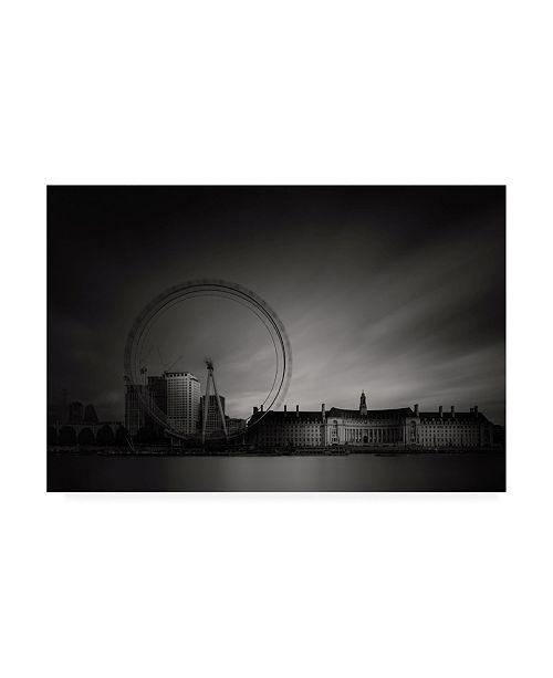 "Trademark Global Roberto Pagliari London Eye, Study Canvas Art - 19.5"" x 26"""