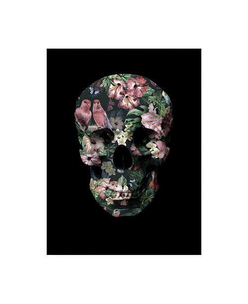 "Trademark Global Design Fabrikken Tropic Skull Fabrikken Canvas Art - 15.5"" x 21"""