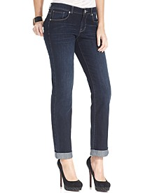 Petite Curvy-Fit Skinny Boyfriend  Jeans, Created for Macy's