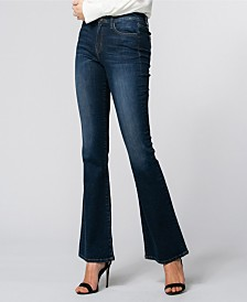 Flying Monkey High Waist Dark Denim Flare Pants