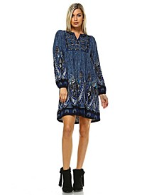 Women's Apolline Embroidered Sweater Dress