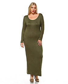 White Mark Women's Plus Size Ria Dress