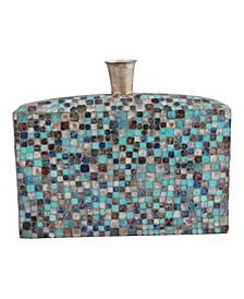 Azul Mosaic Low Vase