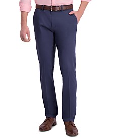 Haggar Men's Premium Slim-Fit Performance Stretch Non-Iron Flat-Front Dress Pants