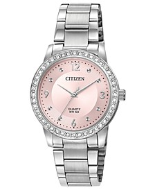 Women's Quartz Stainless Steel Bracelet Watch 35mm