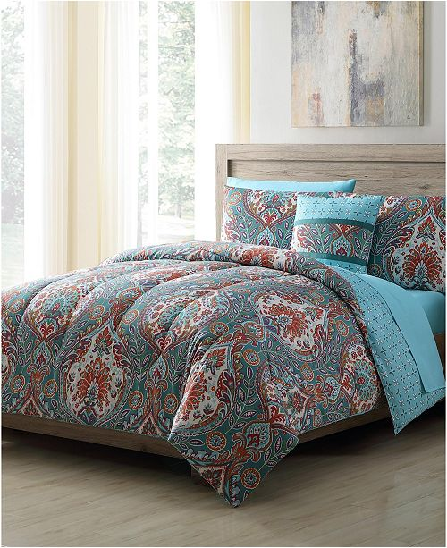 Vcny Home Brynn 8 Pc King Bed In A Bag