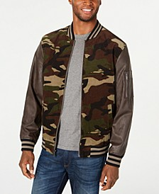 Men's Camouflage Bomber Jacket, Created for Macy's