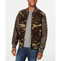 Deals on Club Room Mens Camouflage Bomber Jacket