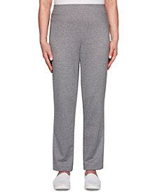 Alfred Dunner Classics Proportioned Ponte Knit Pull-On Pants, Medium & Short