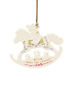 Lenox 2019 Babys 1st Christmas Rocking Horse Ornament