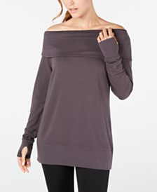 Ideology Off-The-Shoulder Sweatshirt, Created for Macy's