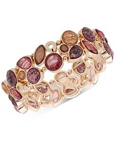 Gold-Tone Stone Stretch Bracelet