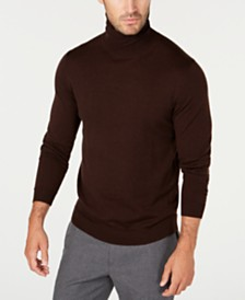 Tasso Elba Men's Merino Turtleneck Sweater, Created for Macy's