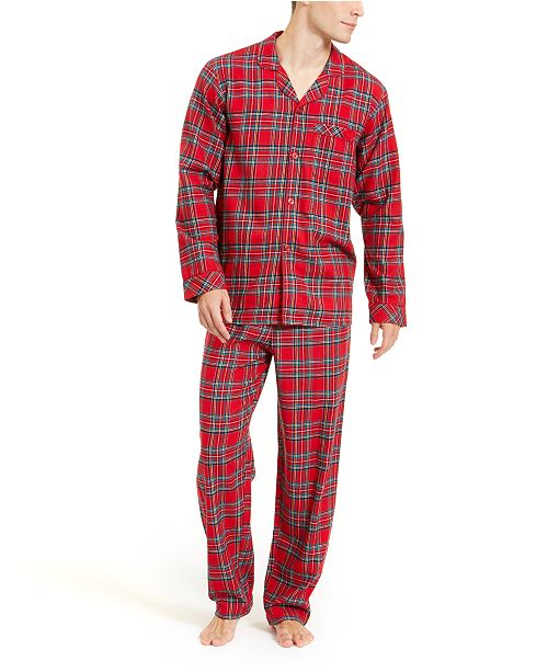 Family Pajamas Matching Men's Brinkley Plaid Flannel Pajama Set, Created For Macy's