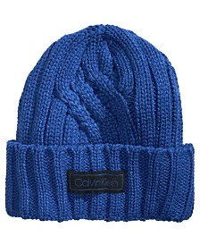 Calvin Klein Men's Crossroad Cable-Knit Hat