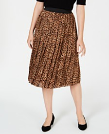 Charter Club Animal-Print Pleated Skirt, Created for Macy's