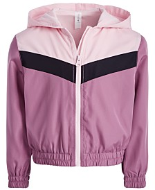 Ideology Little Girls Colorblocked Hooded Windbreaker Jacket, Created for Macy's