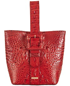 Brahmin Faith Melbourne Embossed Leather Bucket Bag