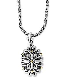 "EFFY® Floral 18"" Pendant Necklace in Sterling Silver & 18k Gold"