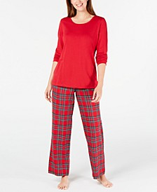 Matching Women's Mix It Brinkley Plaid Family Pajama Set, Created for Macy's