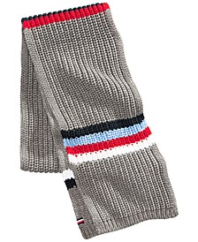 Men's Chunky-Knit Stripes Scarf