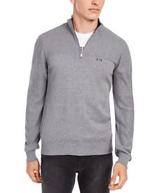 A|X Armani Exchange Men's Quarter-Zip  Sweater