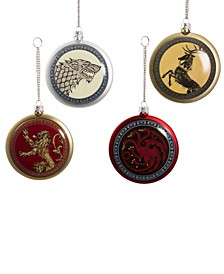 80mm Game of Thrones Disc Ornament Set of 4