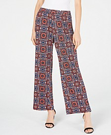 Petite Printed Pull-On Pants