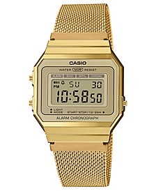 Unisex Gold-Tone Stainless Steel Mesh Bracelet Watch 35.5mm