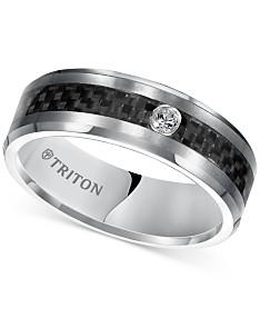 Triton Men's Diamond Band (1/20 ct. t.w.) in Gray Tungsten Carbide